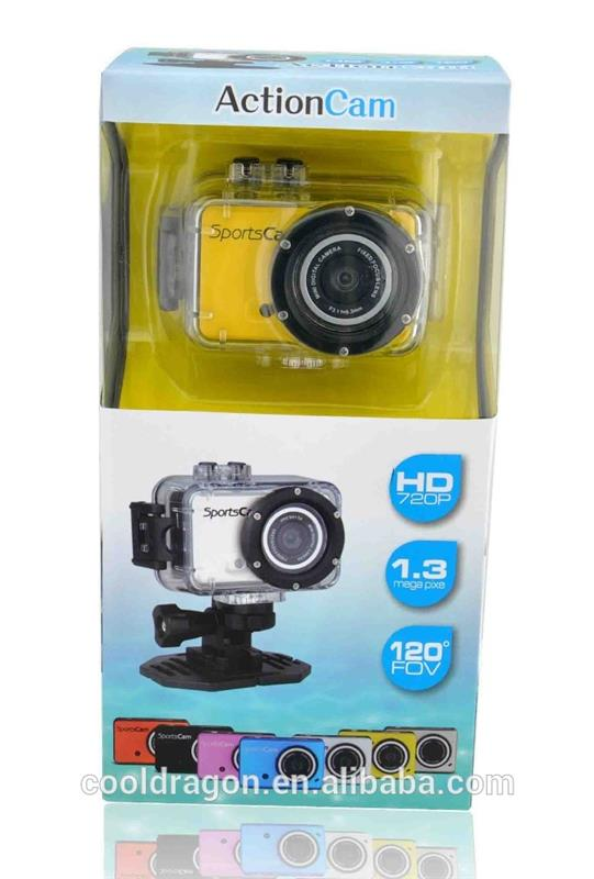 Cooldragon JM-G200 G200 odm hd 720p waterproof dv action camera 720P 3.1MP photo digital LCD AVI 120 degree lens waterproof