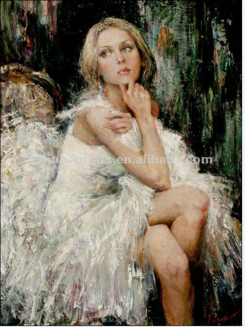 Russian Hot Girl Images Oil Painting