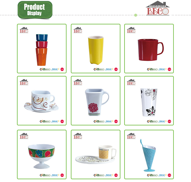 Hot selling custom promotional melamine cup