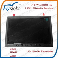 D529 5.8GHz 7 inch LCD Monitor HDMI Input for RC Airplane Model