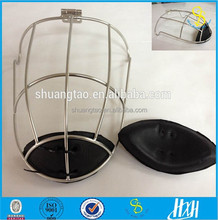 Steel wire face guard/ rugby player helmet, hockey mask with chin piece(guangzhou factory)