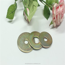 China Factory Carbon Steel Yellow Zinc DIN125 Flat Washers