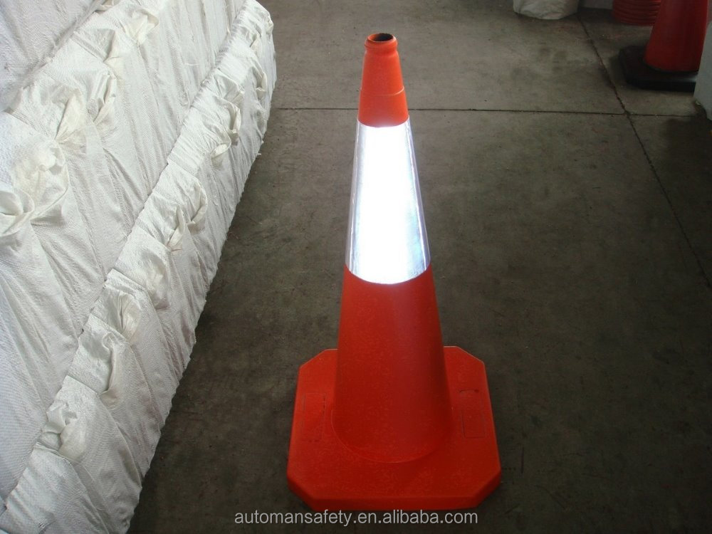 Reflective Rubber Road Safety Cone Traffic Isolation Sign