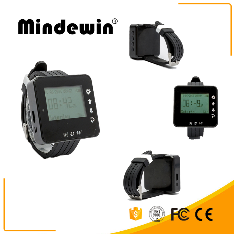 Mindewin New Type Wireless Waiter Call <strong>System</strong> M-W-1 Wrist Watch Pager