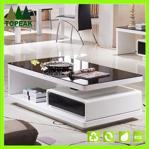 Modern design living room furniture coffee glass table tea for Glass living room furniture company