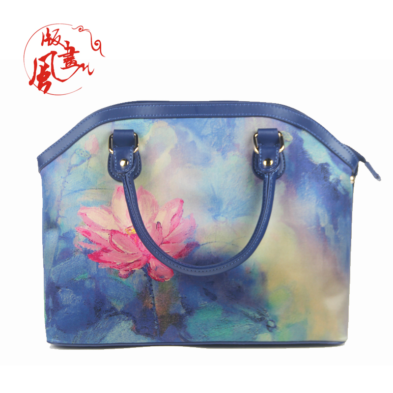 2018 Luxury real exotic element silk leather handbags for women
