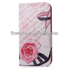 FL2878 2013 Guangzhou new arrival fashion sexy high heel shoe leather phone case for samsung galaxy s4 i9500