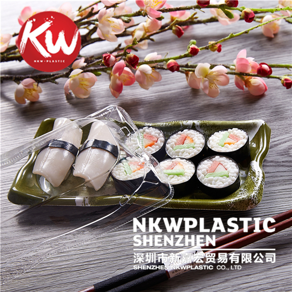Disposable lunch tray printing packaging japanese plastic sushi tray, wholesale nori disposable sushi tray take away box