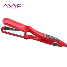 Titanium Flat Irons Custom Logo Flat Iron Newest Heater MCH Red Infrared <strong>Hair</strong> <strong>Straightener</strong>