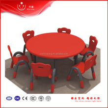 kids plastic round school table and chair furniture