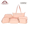 Hot new products double sided PVC leather travel toiletry organizer bag