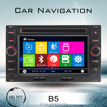 Two Din 6 inch Car Audio System with GPS for Passat B5 golf