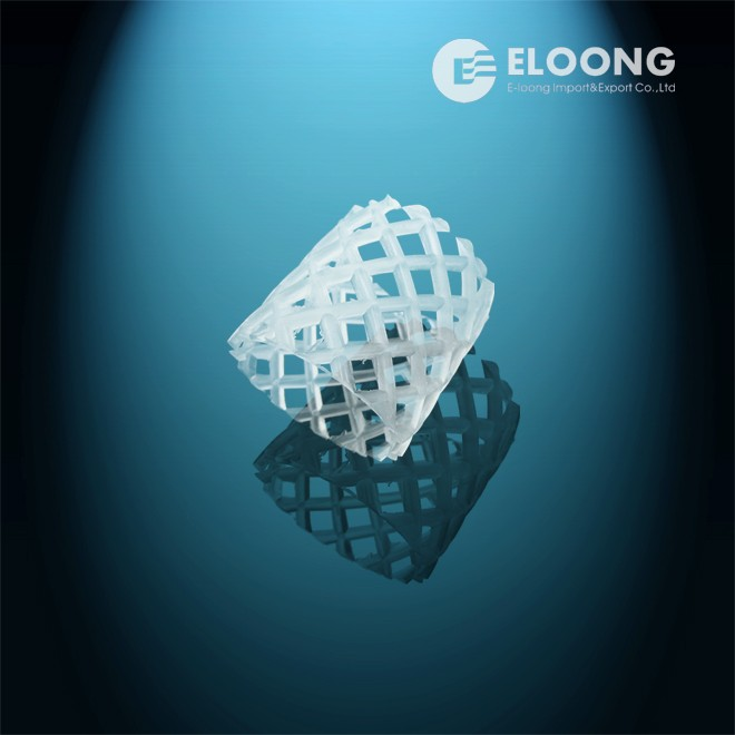 Plastic net ring for cooling tower filling