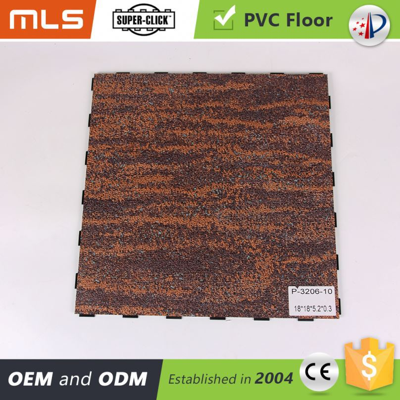 Competitive Price Interlocking Pvc Vinyl Modular Flooring