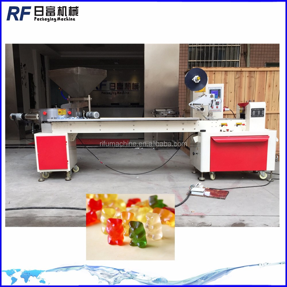 automatic small candy flow wrapping machine