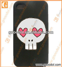2013 funny silicone skull phone cover for iphone5