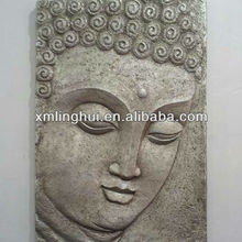 Polyreisn Silver Indoor Bali Wall Buddha Head