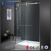 SUYA Chinese new year promote tempered glass frameless striped glass line glass shower door, shower room accessories