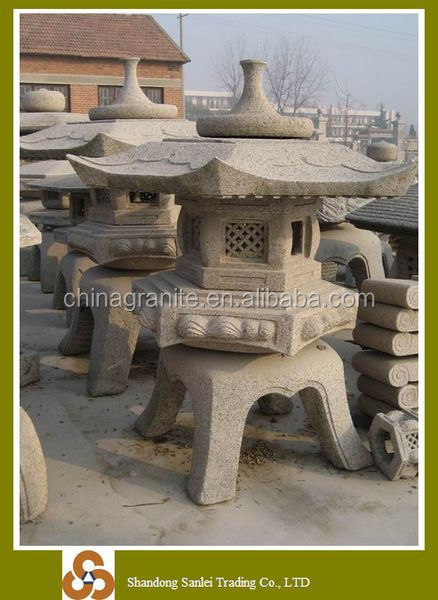Natural stone carving japanese outdoor lanterns for sale