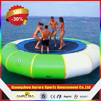 0.9mm PVC inflatable water trampoline clearance cheap on sale