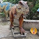 OAZ4061 Mini Golf Playground Prop Life Size Fiberglass Dinosaur with Videos
