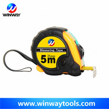 whosale 16ft ruler/ quality rubber+ABS tape measure/cheap two lock customized logo mesuring tape popular