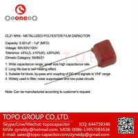 cl21 mini polyester film capacitors 50V 63V 100V