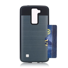 2 in 1 TPU and PC shockproof hybrid armor phone case for lg k8
