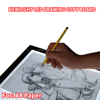 High brightness Adjustable A3 & A4 drawing projector LED tablet copy tracing board