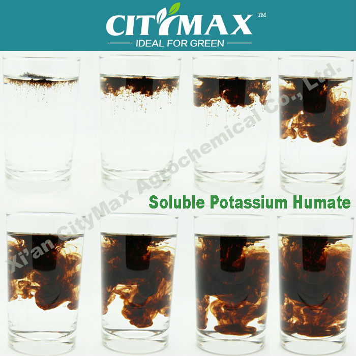 Potassium Humate from Leonardite Flake 100% Water Soluble