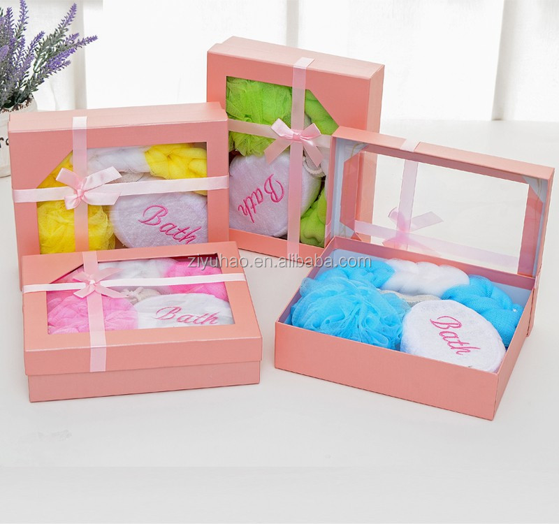 High Quality Pink Parper Gift Box Body Care Bath Set