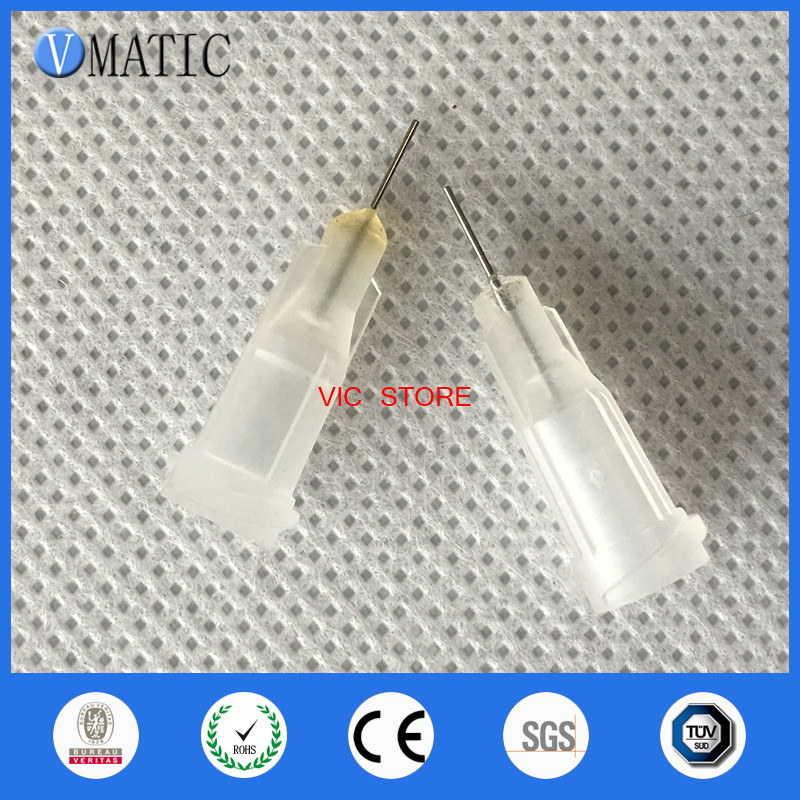 2017 Free Shipping 100Pcs 27 <strong>G</strong> 1/4 Inch Precision Glue Dispensing Liquid Needle