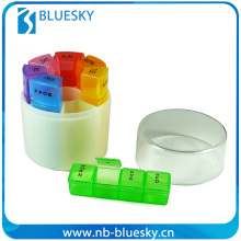 7 Day Notebook Wallet Pill Box With Lock Travel Pill Box