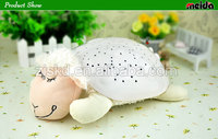 New style mini projector plush animal with music and projection