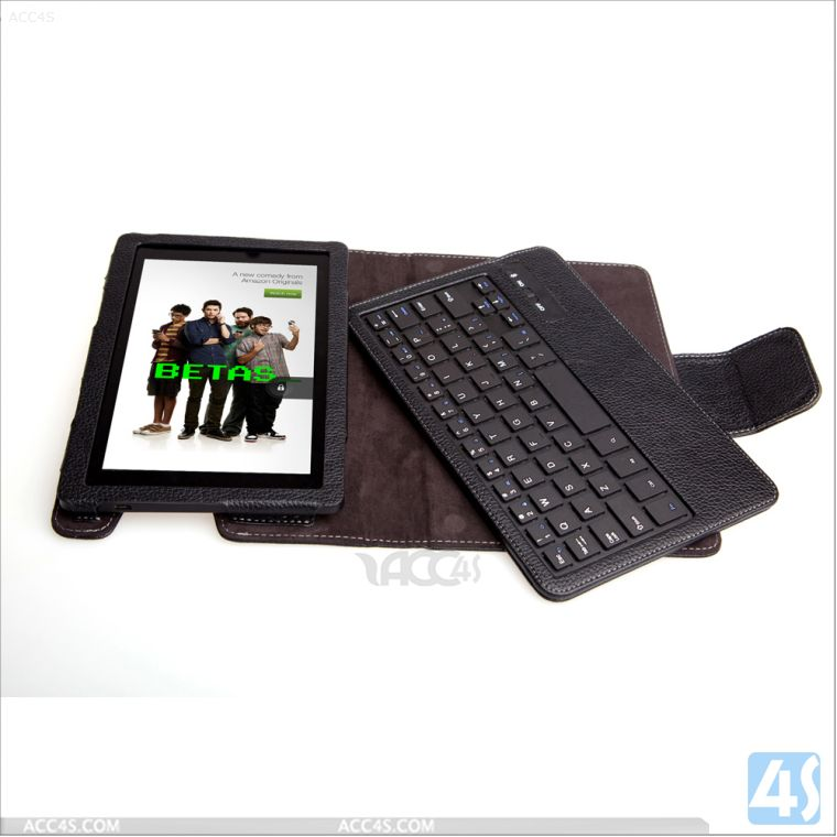 Bluetooth wireless keyboard leather case for Amazon Kindle Fire HD 2013 (HD7 2) P-KINDLEFIREHD7iiCASE005