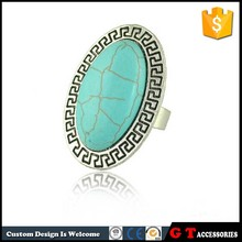 Hot Sale Fashion Synthetic Turquoise Ring Adjustable Size, Vintage Ring For Women