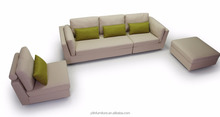 <strong>Modern</strong> furniture design 3 seaters fabric sofa living room Ottoman sofa set F8022