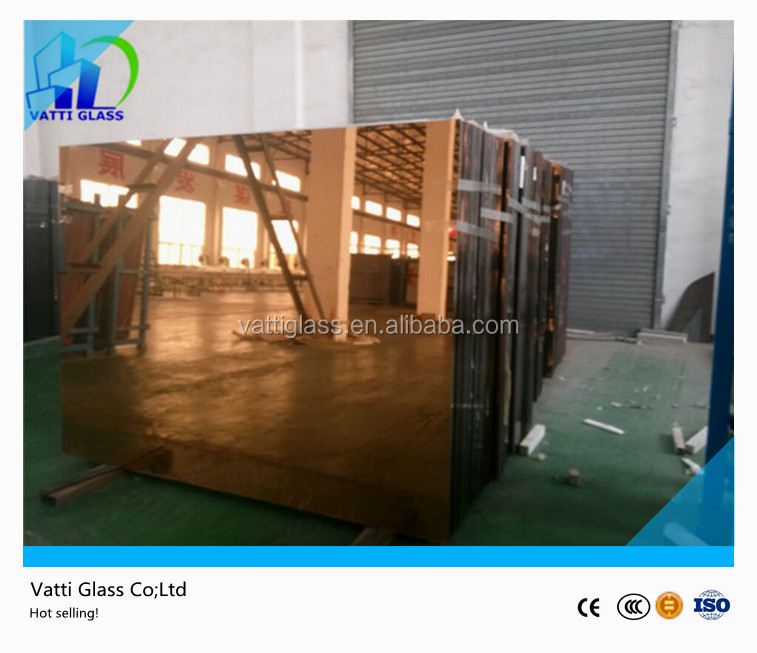 Large selling cheap wholesale decorative 5mm bronze tinted mirror glass