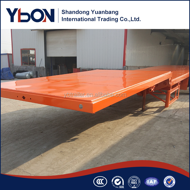 40tons 40ft Container flatbed Semi Trailers For Sale