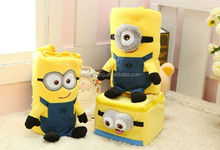 Hot selling plush toys cute and soft plush Despicable Me blanket kid toy