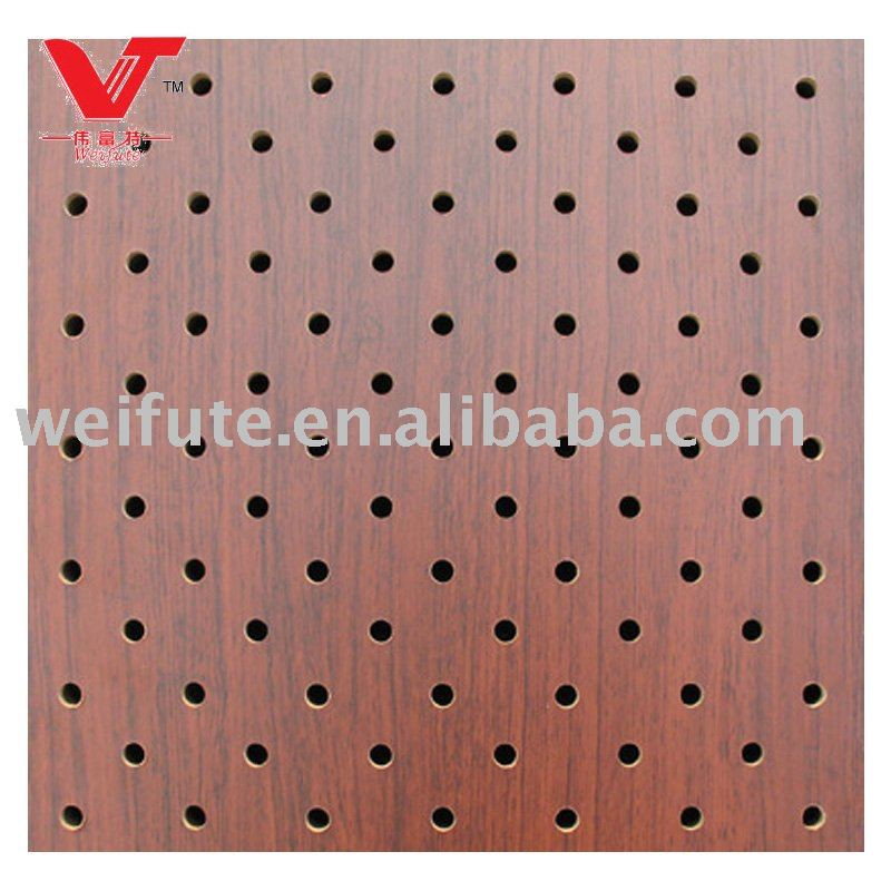 Perforado panel ac stico de madera paneles de sonido for Panel perforado madera