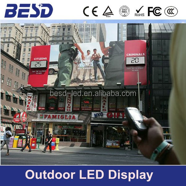 2016 hotsale DIP P10 P16 LED digital billboard/led video wall sign/outdoor led advertising screen price Shenzhen