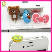 Fashione custome design druable silicone earphone dust plug for iphone5