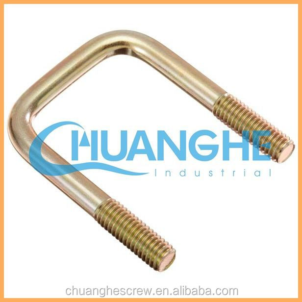 China Supplier High Qualit non-standard big size u bolt with nut(round and square type) /Link Fitting / Line Hardware