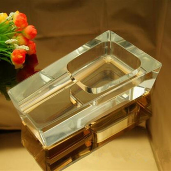 New products customized crystal cigar ashtray of trapezoid with logo