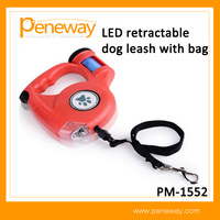 Custom wholesale private label flashlight heavy duty retractable dog leash