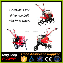 Gasoline Powered Mini Rotavator Tiller / Rice Planting Machine In India