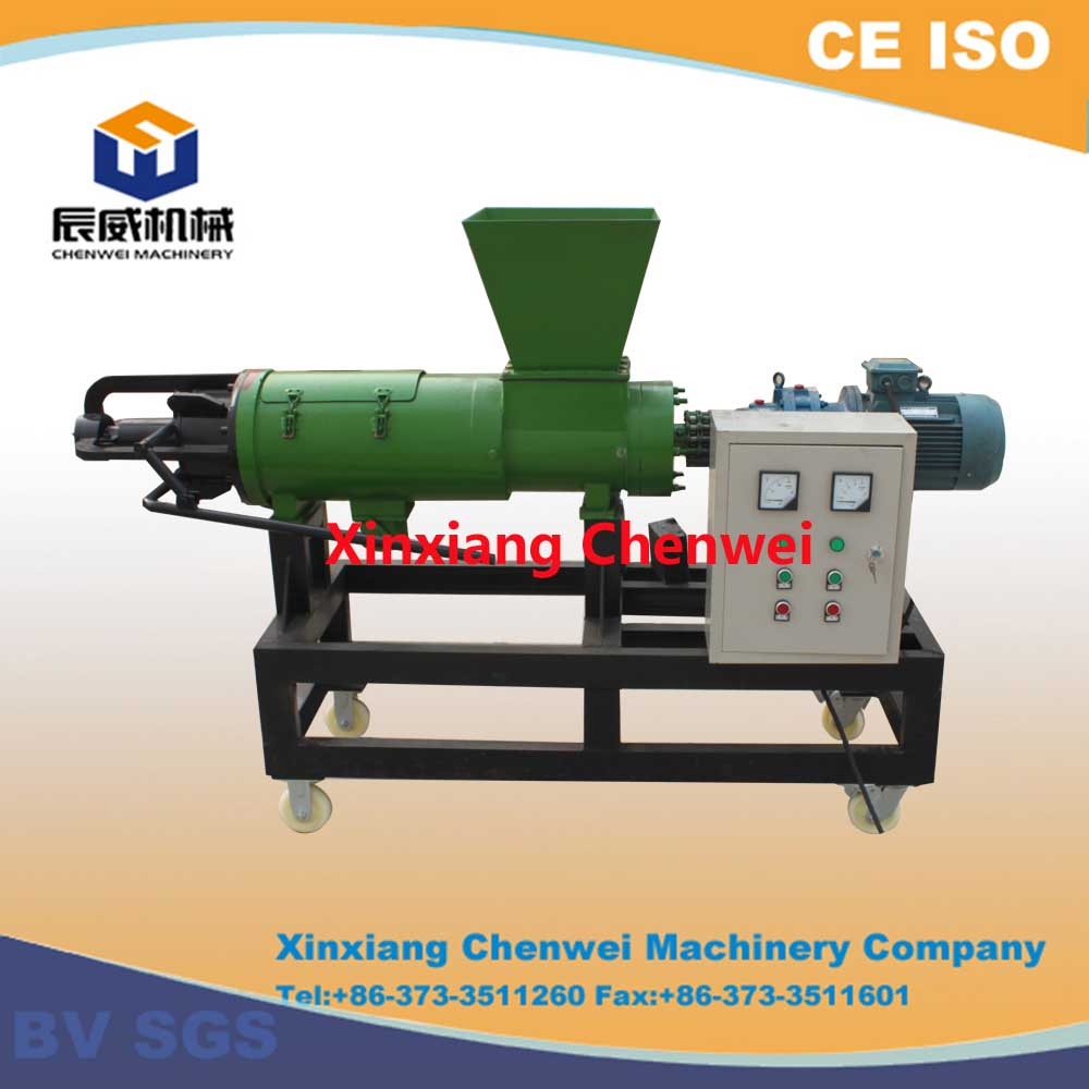 Manure dehydrator, animal dung dewatering machine
