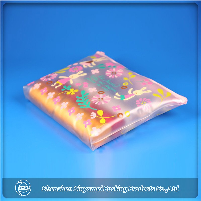 frosted pink semi-transparent pvc zip pouch