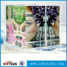 Clear plastic photo cube picture cube / Plastic acrylic photo frame